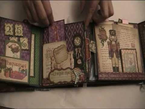 Gatefold Album Nutcracker Sweet Graphic 45 Mini Album Videos