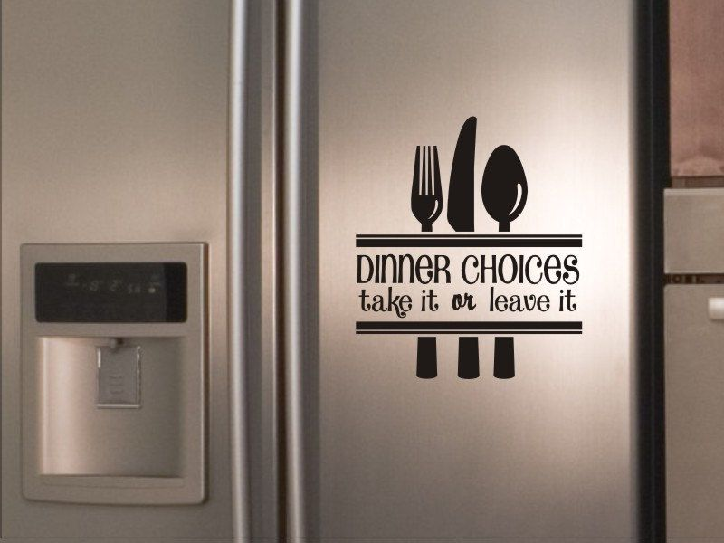 Kitchen Quote Wall Decal Dinner Choices Take It Or Leave It With  Silverware. $9.00,