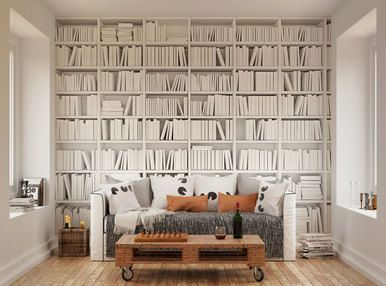 Image Result For White Bookcase Wallpaper