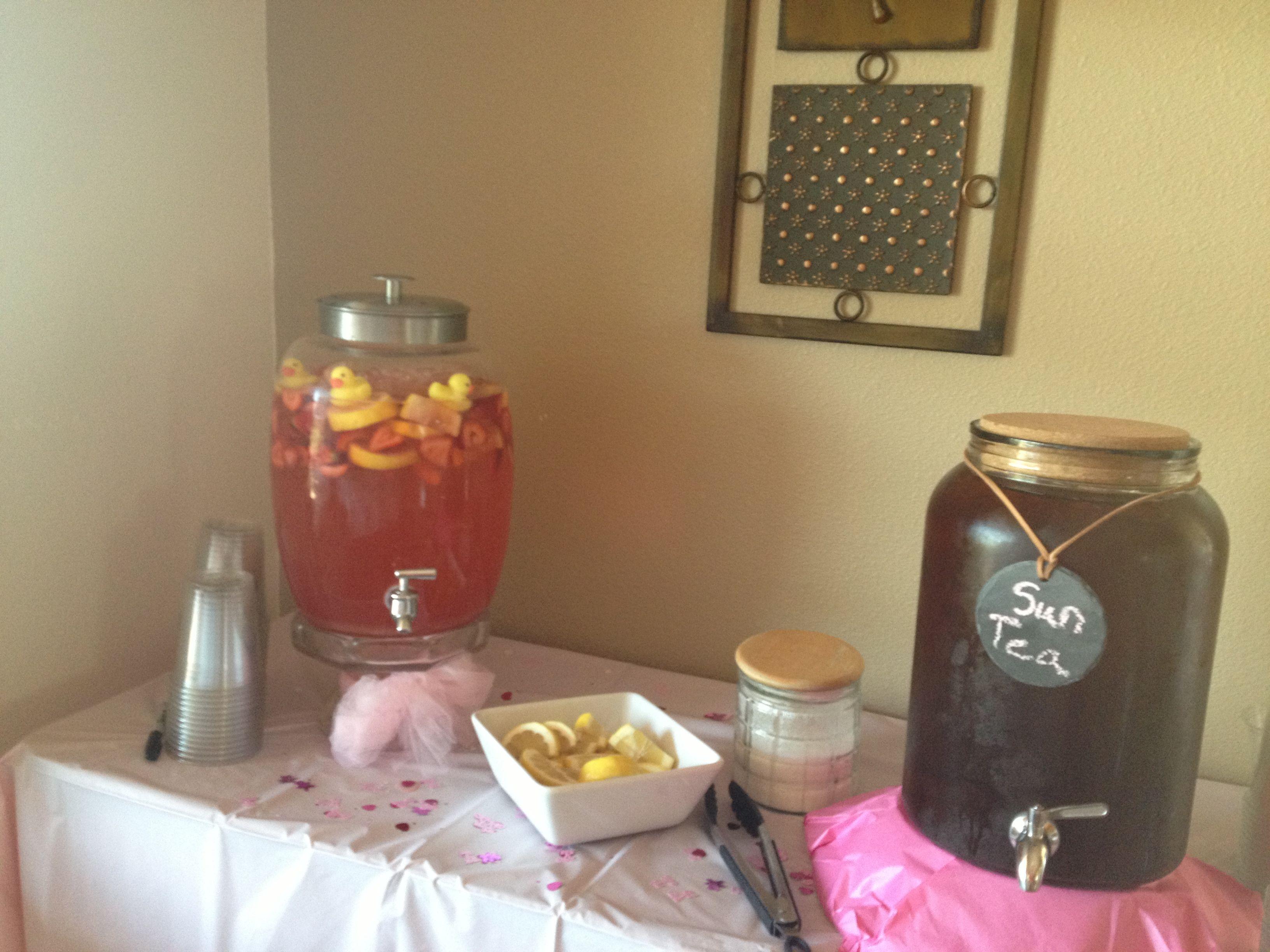 Baby shower idea:) Floating rubber ducks in strawberry lemonade ...