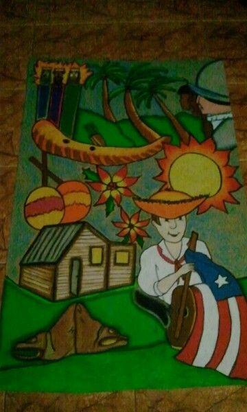 Puerto Rican heritage! Door decore!