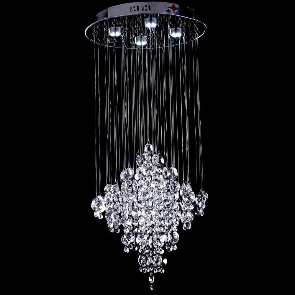 Contemporary Crystal Chandelier Rain Drop Lighting Crystal Ball