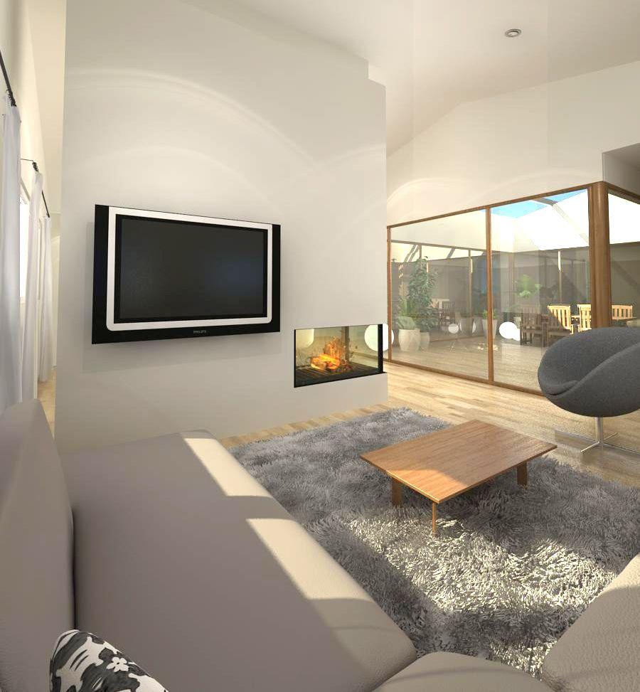 diseo de vivienda con patio interior iluminacin plena a toda la casa a travs