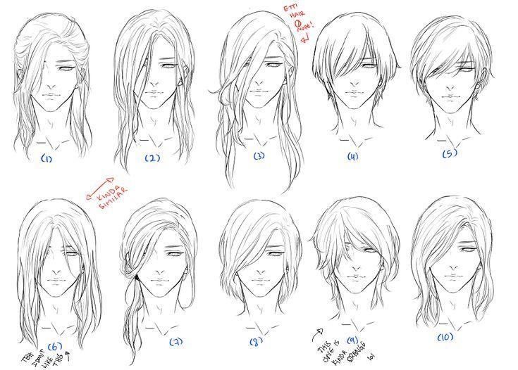 B76e9a71ffe46fe4e05fca4090246c5b Jpg 735 526 How To Draw Hair Hair Sketch Anime Hair