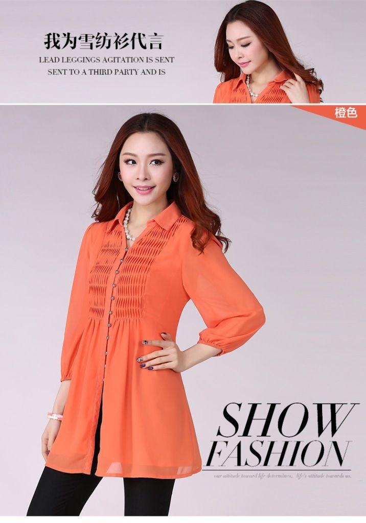 Larga camisa casual sueltas& blusas camisas de las mujeres de gran tamaño 6xl tamaño más mujeres tops ropa en de en Aliexpress.com
