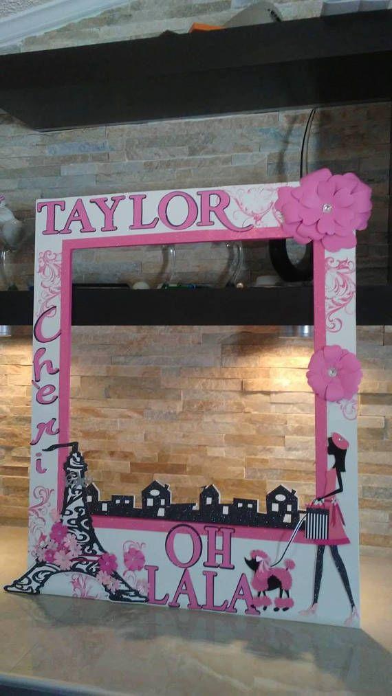 Barbie en París foto cabina marco-OH LA LA | Paris Selfie Ideas ...