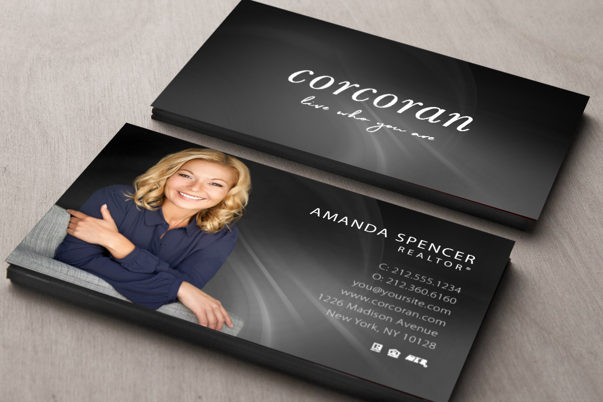Corcoran Business Cards Realty Business Card Templates Online Design And Prin Realtor Business Cards Photo Realtor Business Cards Real Estate Business Cards