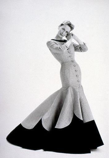 Ephemeral Elegance | Evening Coat Dress, 1955 House of Lachasse ...