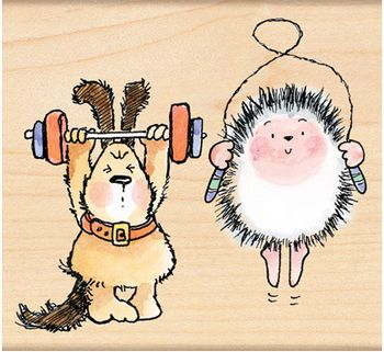 Critter Workout - Rubber Stamp | Rubber Stamps | Pinterest
