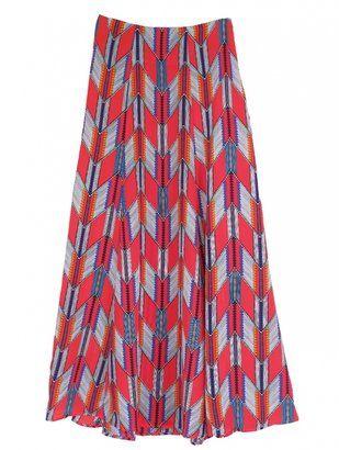 a90a8311573c8a ShopStyle: Mara Hoffman Red Arrows Maxi Skirt | CALIFORNIAN STYLE ...
