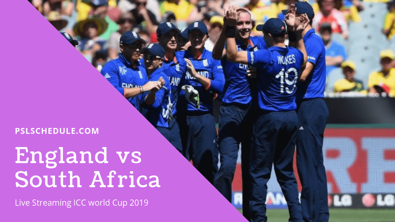 England Vs South Africa Live Streaming 1st ODI CWC 2019