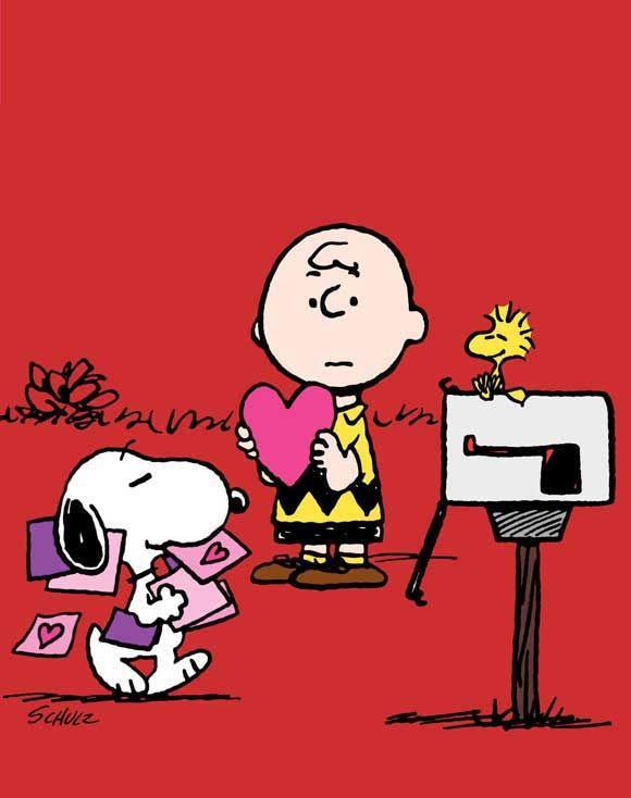 Snoopy En San Valentin Imagui Charlie Brown Valentine Charlie Brown Snoopy Valentine