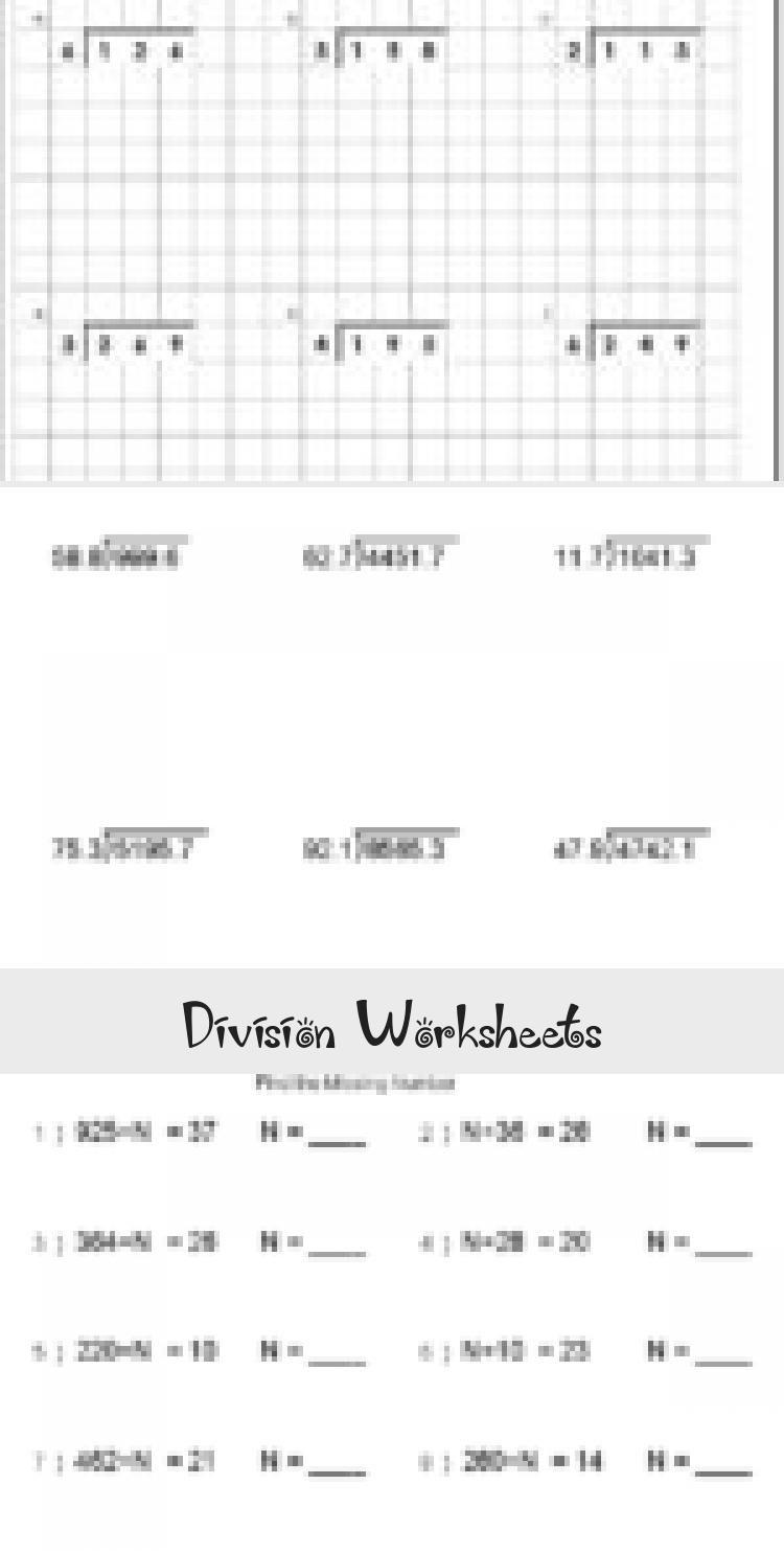 Division Worksheets Preschool worksheets, Worksheets