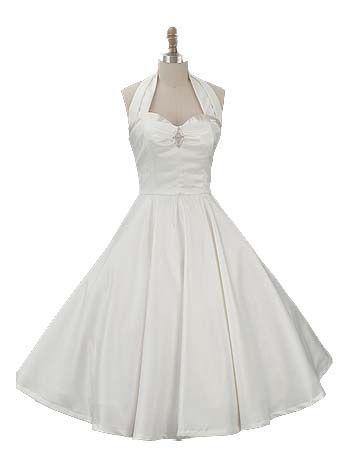 Rockabilly Wedding Dresses 1950s Style Full Skirt Wedding Dress
