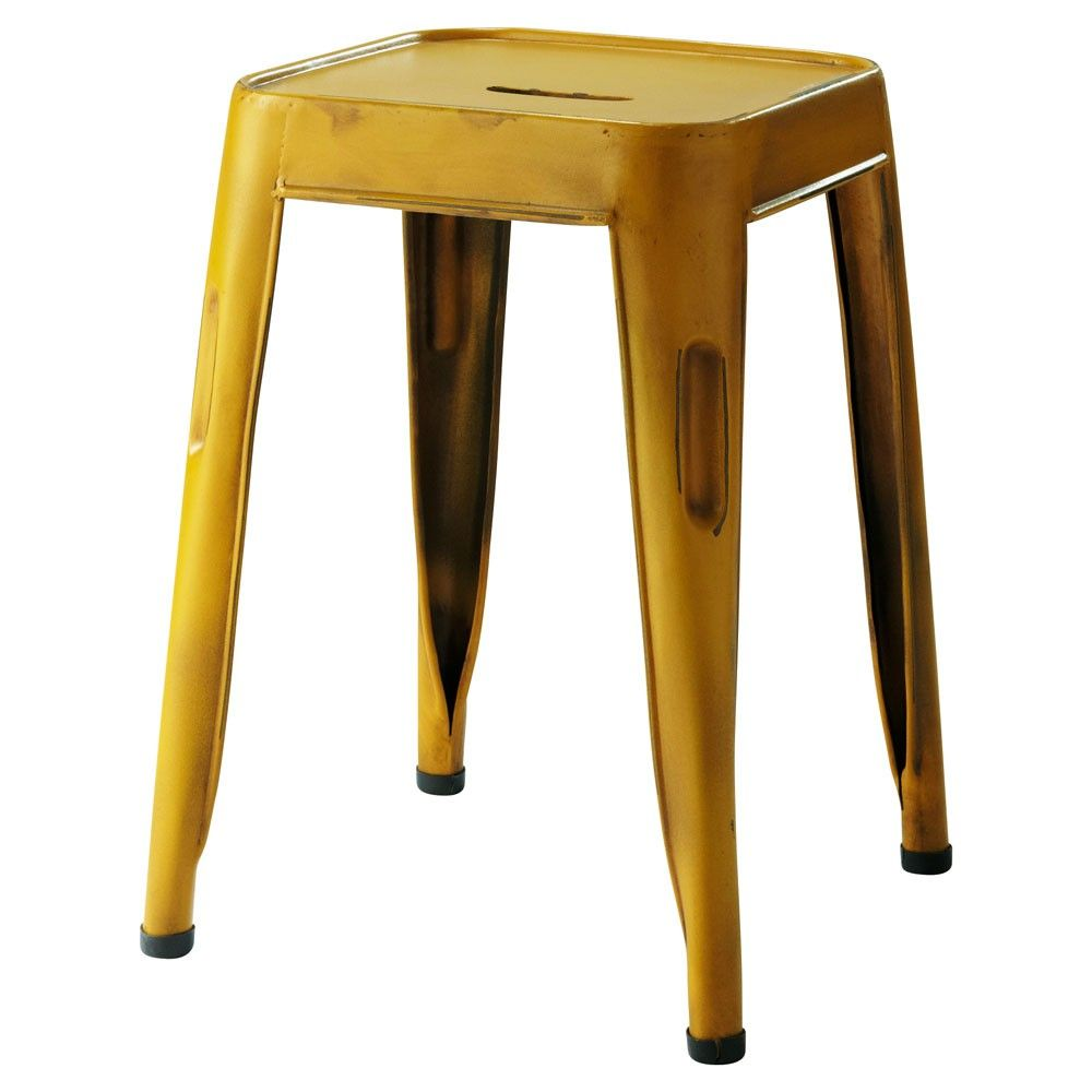 maison du monde tabouret jaune jim black and yellow. Black Bedroom Furniture Sets. Home Design Ideas
