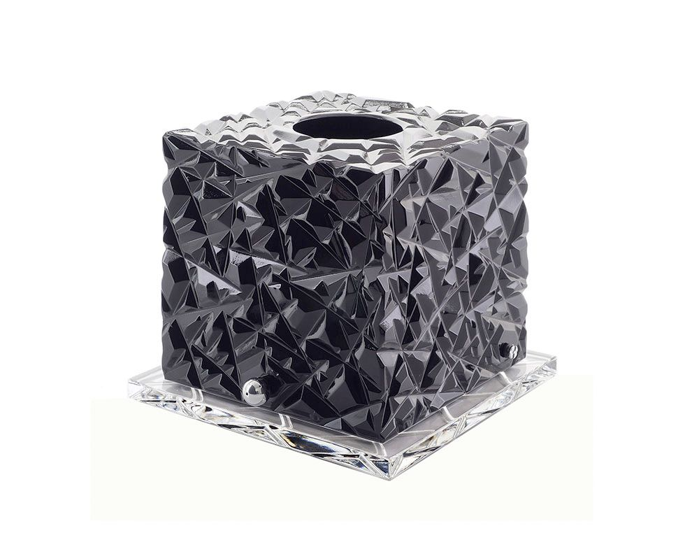 Best Aria Black Katharine Pooley Tissue Box Covers Crystal Box 400 x 300