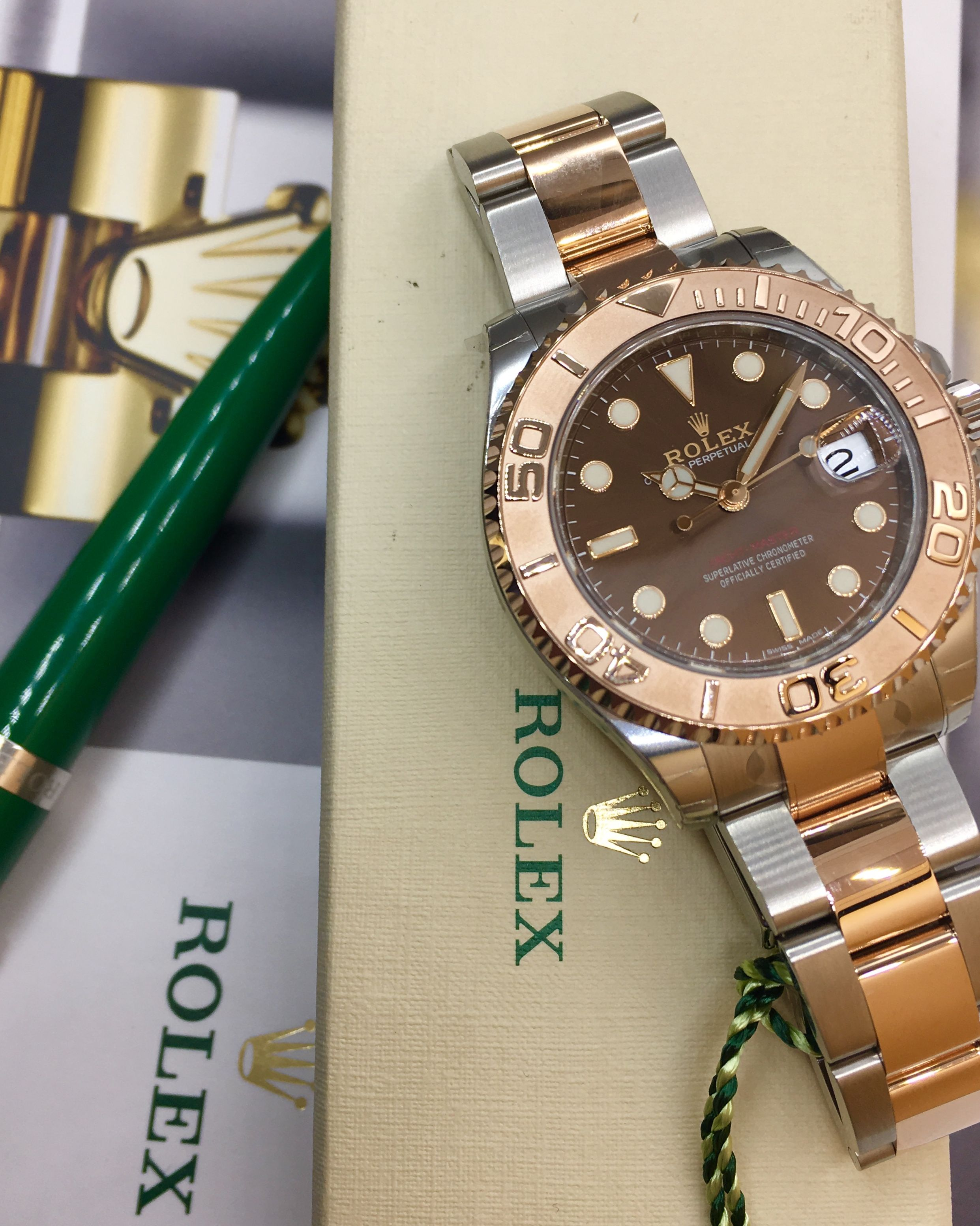 a8cbe90511a Rolex Yacht-Master 37 Steel   Everose Gold Chocolate Dial 268621 ...
