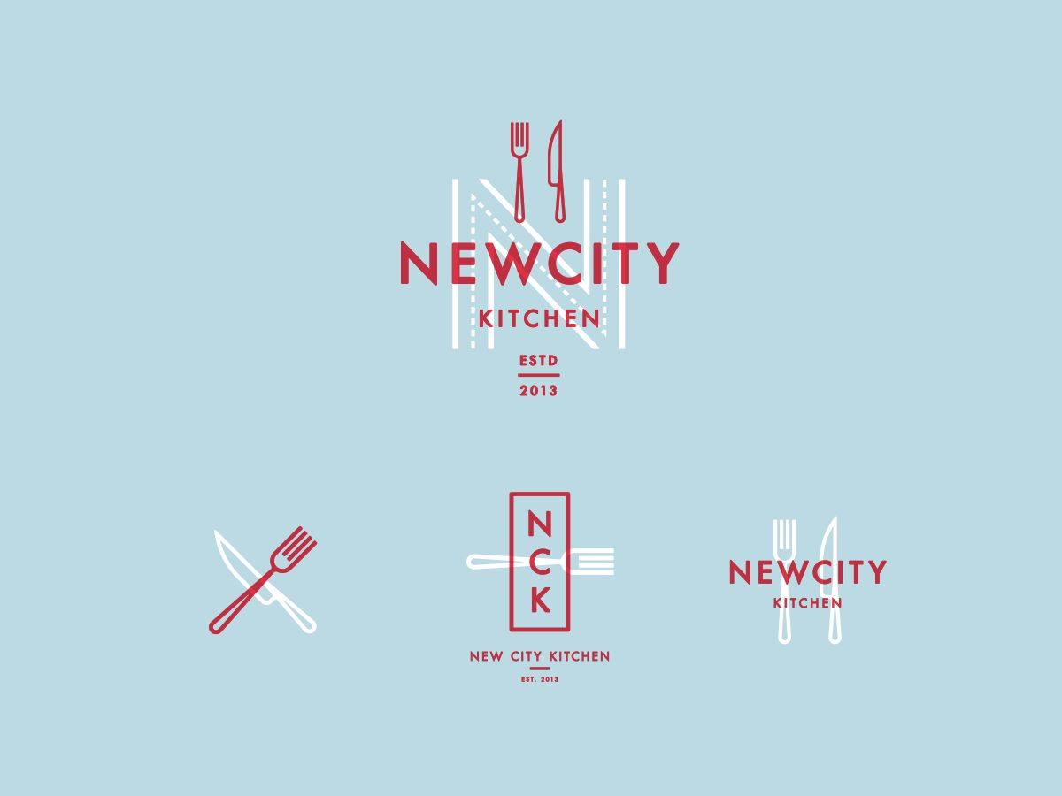 Branding options designed by Picnic for New City Kitchen of Portland ...