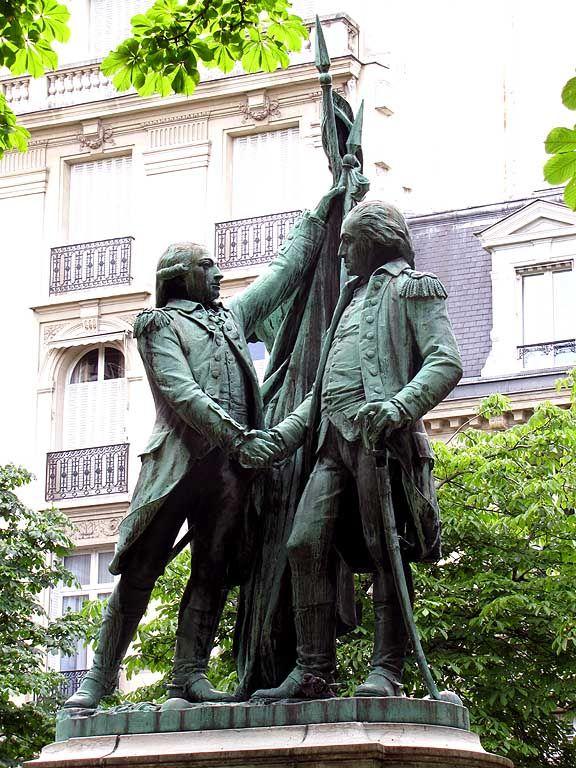 Lafayette And Washington Monument By Auguste Bartholdi 1895 Place Des Etats Unis 16e Arrondissement Franc Macon Paris Franc Maconnerie Symbole