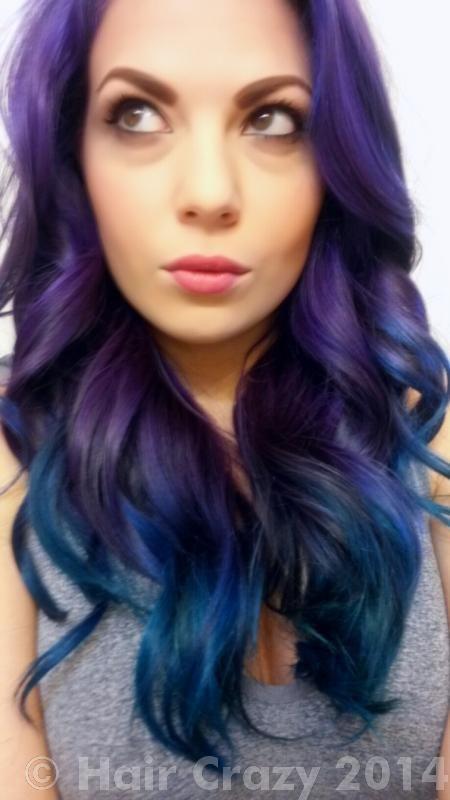 Products Used Adore Aquamarine Crazy Color Hot Purple Crazy