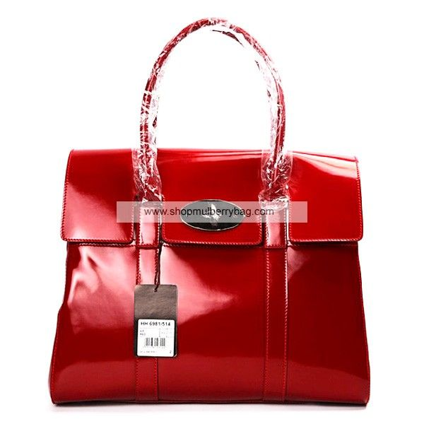 b78c690f1beb Mulberry Women s Standard Bayswater Patent Leather Shoulder Bag Red ...