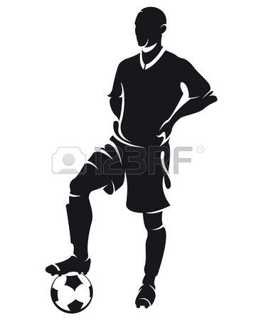 Set Of Detail Soccer Silhouettes Fully Editable Illustration Soccer Silhouette Soccer Players Soccer