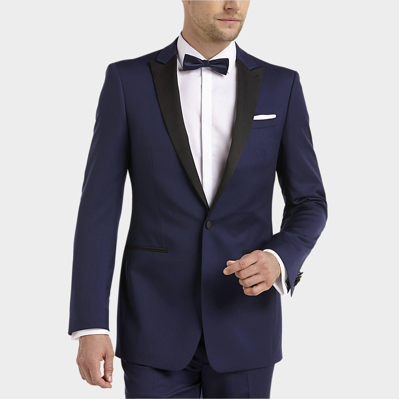 Calvin Klein Blue & Black Extreme Slim Fit Tuxedo - Mens Tuxedos, Tuxedos &  Formalwear