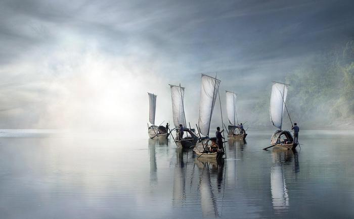 On the river di Vladimir Proshin