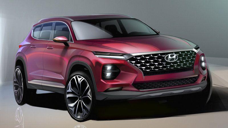 2019 Hyundai Santa Fe Midsize Crossover Suv Teased With Renderings