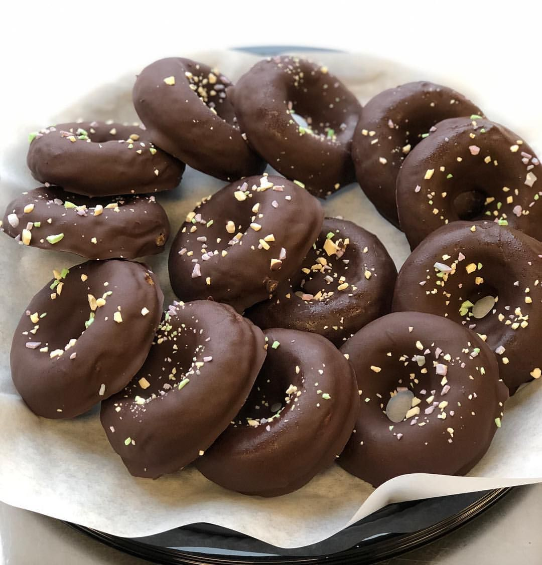 Our Chocolate Covered Donuts Are Sold Individually Or By The Dozen Find Them Sold In Locations Around Losangeles Vegan Kitchen Chocolate Covered Vegan Donuts