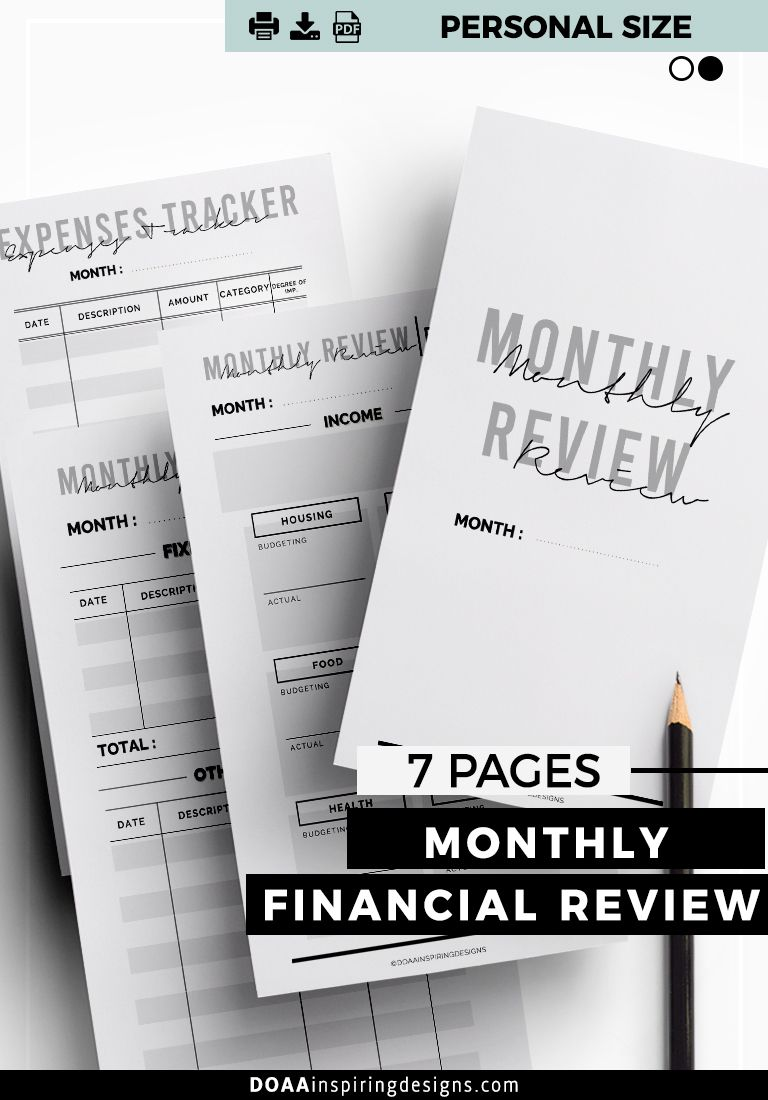 take control of your finance with this monthly financial