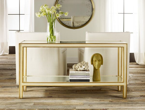 Modern History Painted And Mirrored Sofa Table Modern