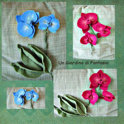 orchidee in pannolenci