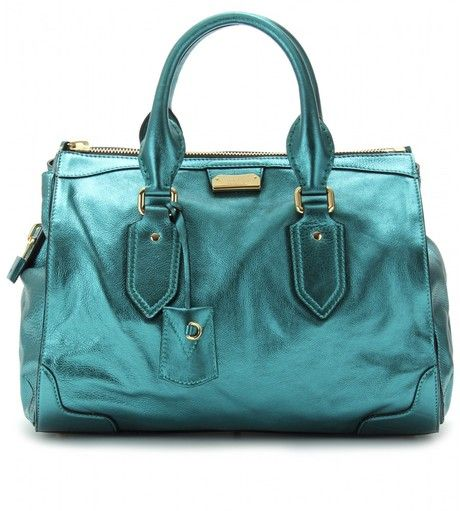 167cc70d5a BURBERRYPRORSUM Gladstone Metallic Leather Tote - Lyst   BLUE   Bags ...