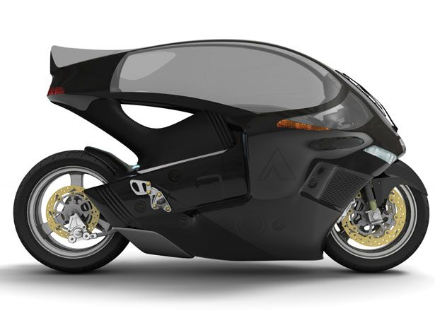 Crossbow Motorcycle : An Electric Motorcycle with A Canopy