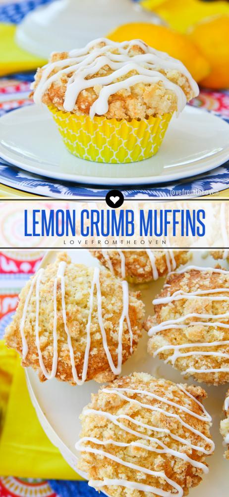 Lemon Crumb Muffin Recipe. #britebites #ad