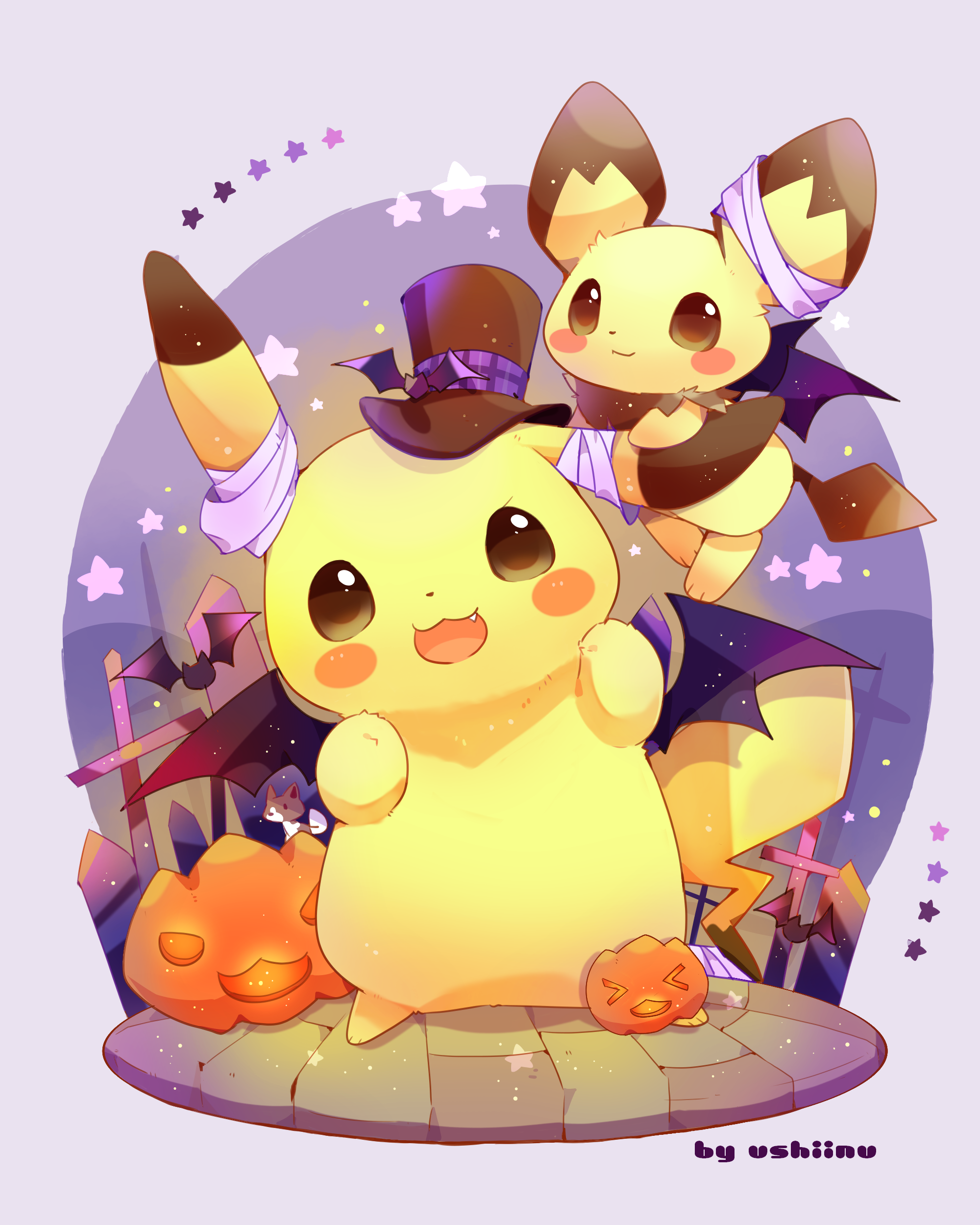 Pikachu and Pichu, by Pixiv Id 6275742   Cute pikachu ...