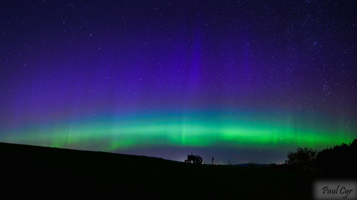 Northern Lights in Presque Isle, Maine 9/12/14