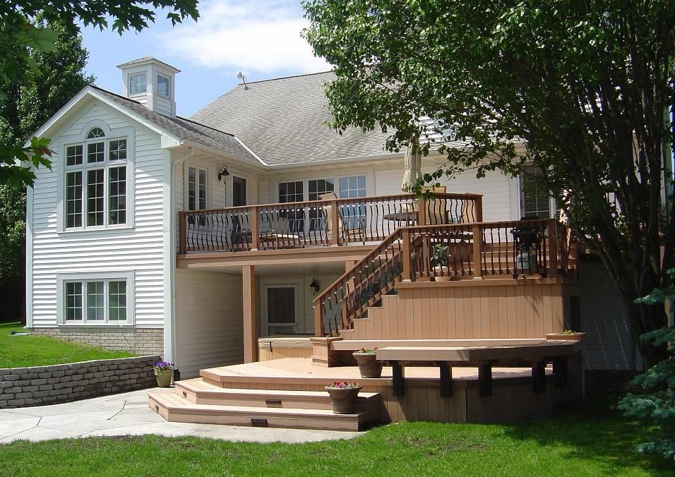 Multi Level Backyard Decks : TimberTech TwinFinish MultiLevel Deck and Patio, Creston More