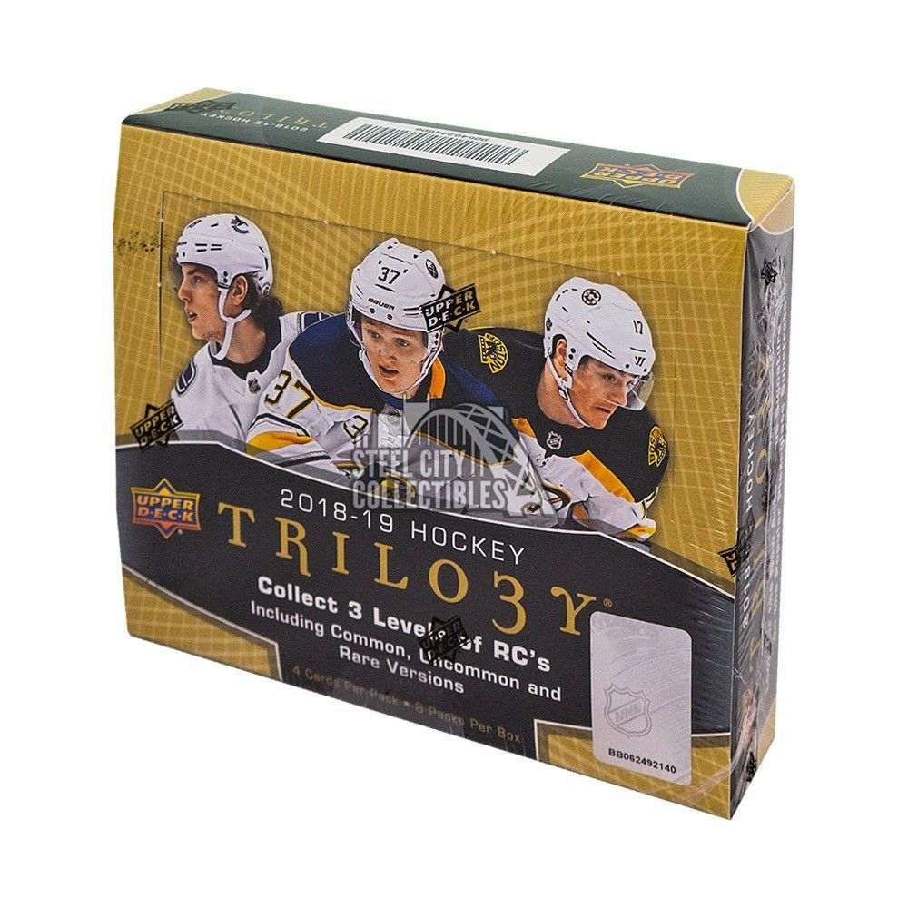 2018 19 Upper Deck Trilogy Hockey Hobby Box Boxes For Sale Hockey Cards Upper Deck