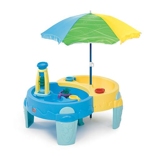 step2 shady oasis sand and water play tablewant this for the boys