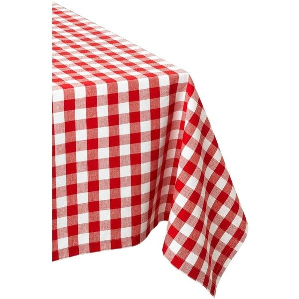 Checkers Red And White Tablecloth 28 Liked On Polyvore