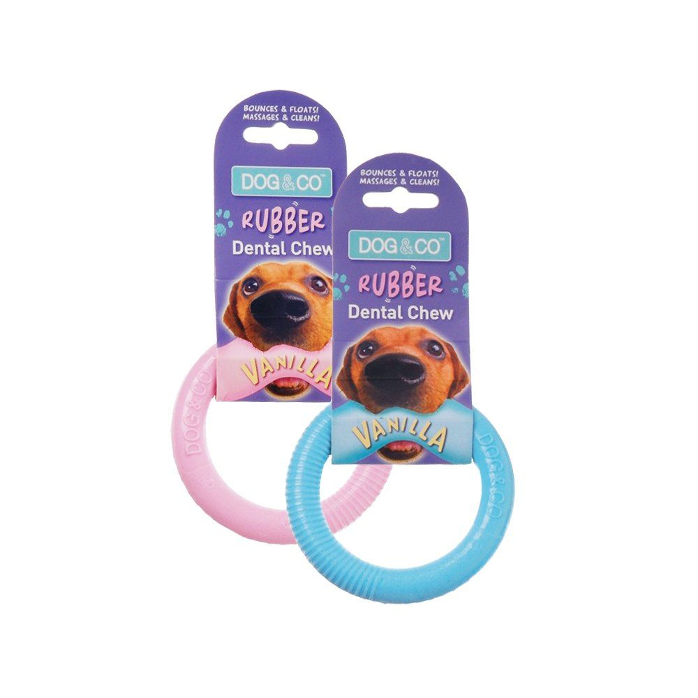 Rosewood Pet Product Dog Co Vanilla Rubber Dental Ring