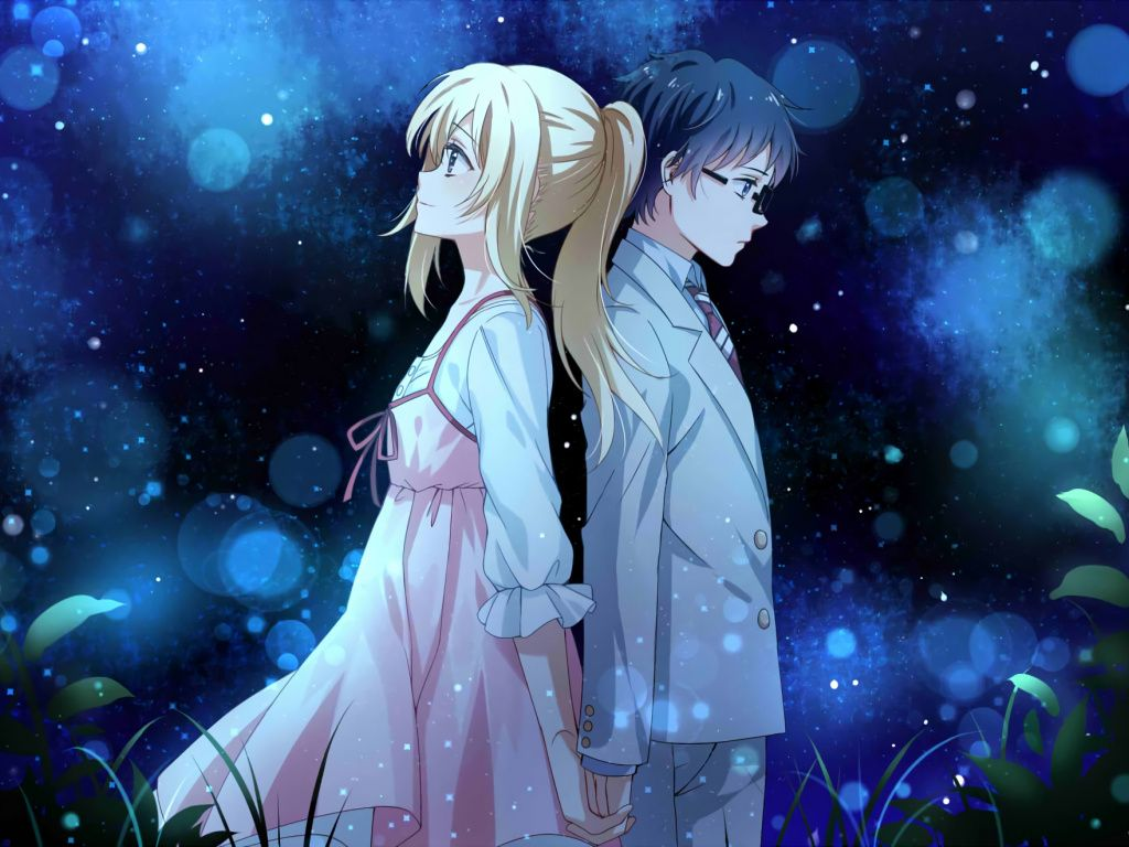 Desktop Wallpaper Anime Couple Kaori Miyazono Kousei Arima Your Lie In April Hd Image Picture Background Hrokxf Pasangan Animasi Animasi Pasangan Manga