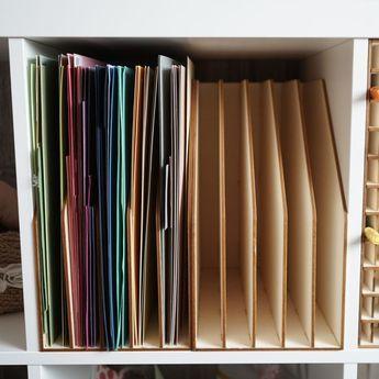 12 Papier Aufbewahrung Fur Kallax Diy Tools And Craft Rooms In