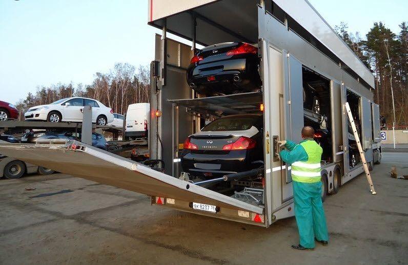enclosed vehicle transport service Bing images