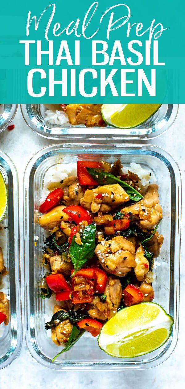 This Meal Prep Thai Basil Chicken Is A Healthy Stir Fry Idea That