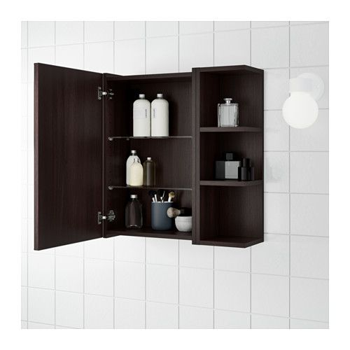 Lillangen Spiegelschrank 1 Tur 1 Abschlregal Weiss Ikea Deutschland Mirror Cabinets Trendy Bathroom Tiles Bathroom Mirror With Shelf