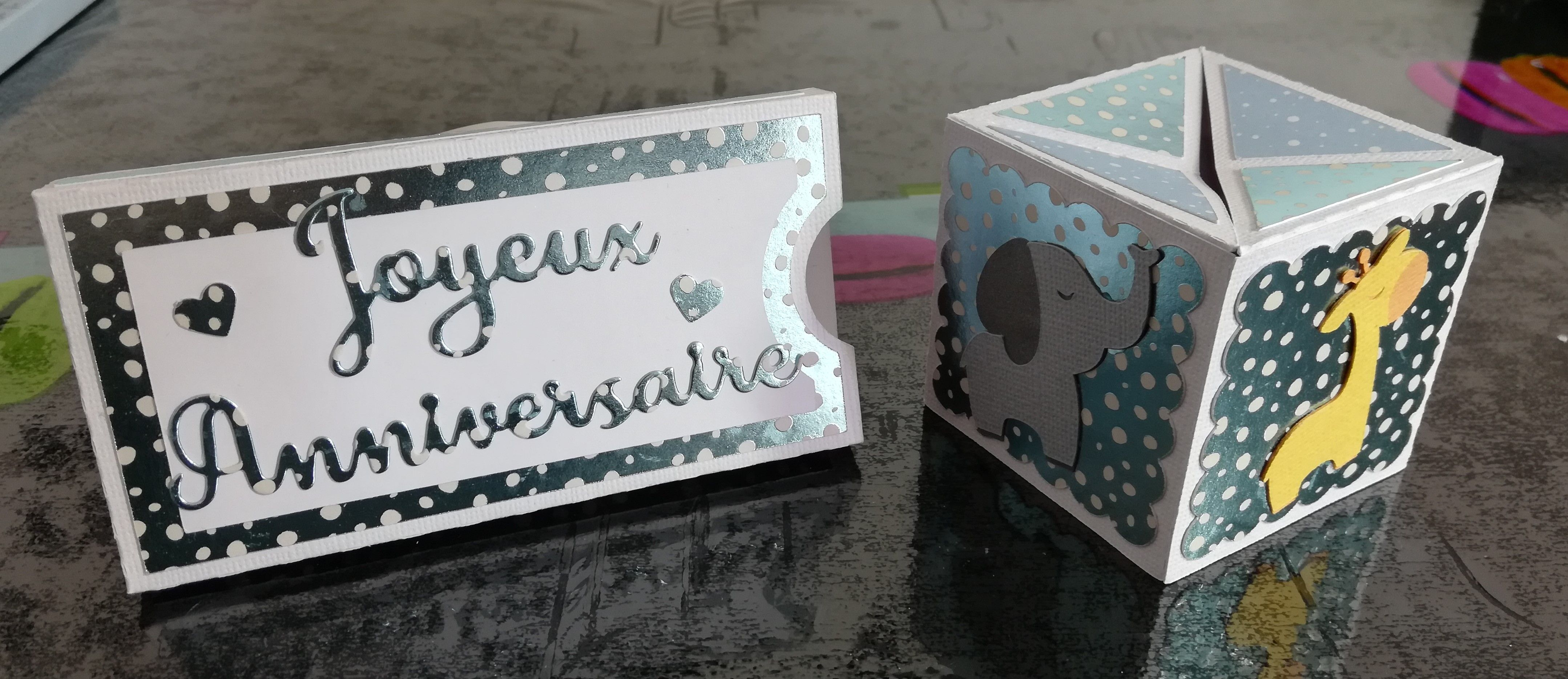 Carte Anniversaire Version Cube Sauteur Carte Anniversaire