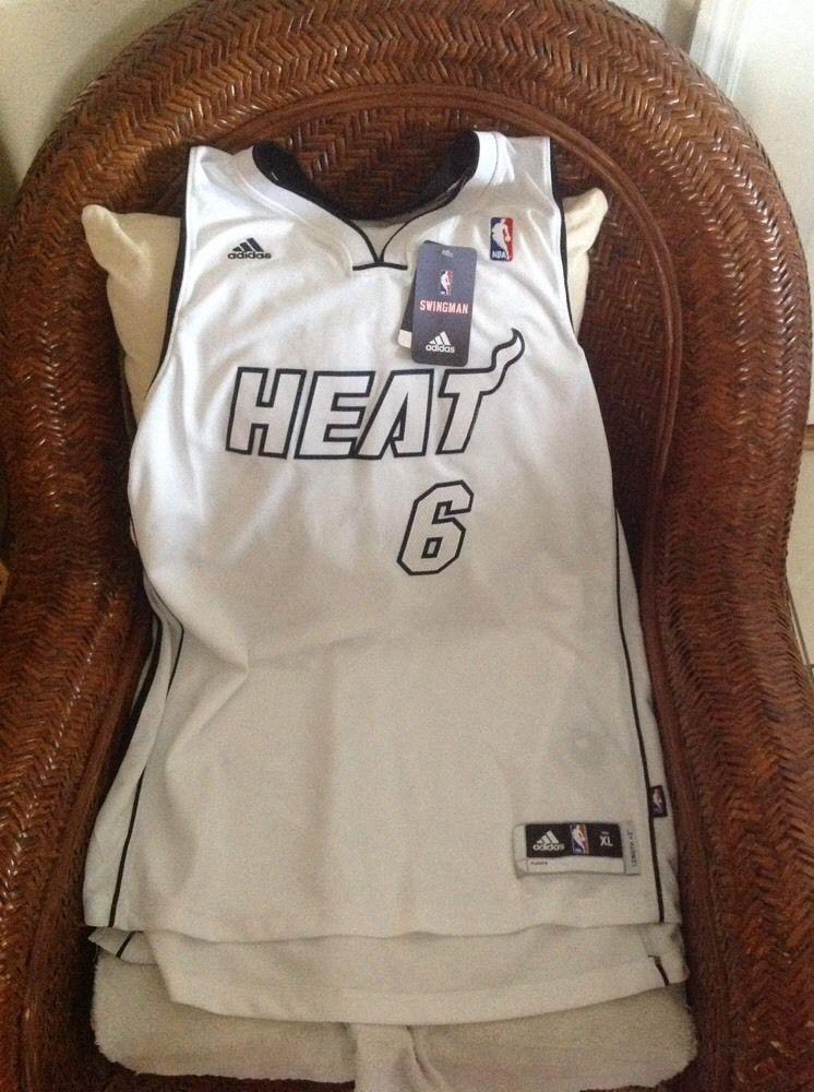 WHITE HOT Lebron James Miami Heat 6 Adidas NBA Jersey